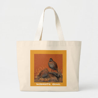 Bobwhite Quail (Georgia, Missouri and Tennessee) Large Tote Bag