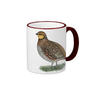 Bobwhite Quail Hen Ringer Mug