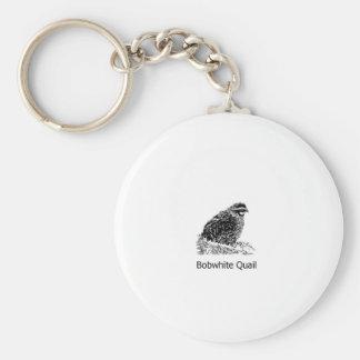 Bobwhite Quail Line Art Key Ring
