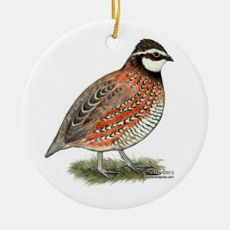 Bobwhite Quail Rooster Christmas Ornament