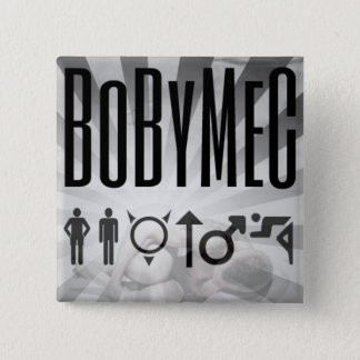 BoByMeC swipes in 15 Cm Square Badge