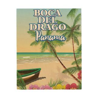 Boca del Drago Panama Beach travel poster