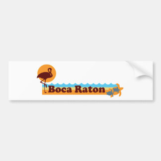 Boca Raton - Beach Design. Car Bumper Sticker