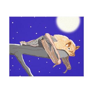 Bocage Banana Bat Stretched Canvas Print