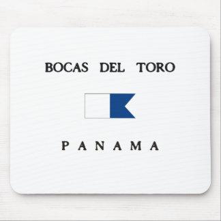 Bocas Del Toro Panama Alpha Dive Flag Mouse Pad
