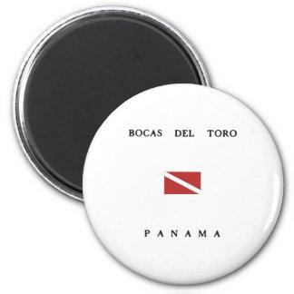 Bocas Del Toro Panama Scuba Dive Flag 6 Cm Round Magnet