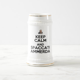 Boccale Keep Calm and Spaccati Ammerda Beer Stein