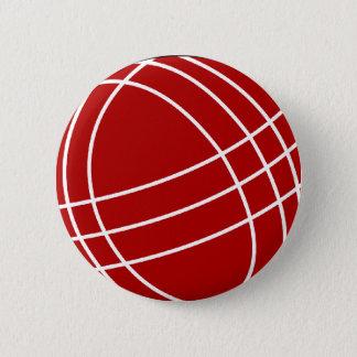 Bocce ball 6 cm round badge