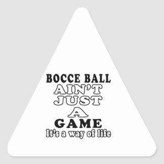Bocce Ball Ain't Just A Martial Arts Triangle Stickers
