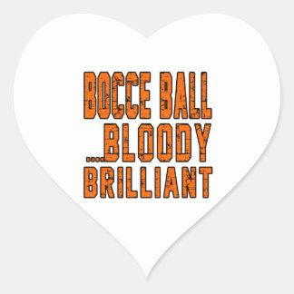 Bocce Ball Bloody Brilliant Heart Sticker