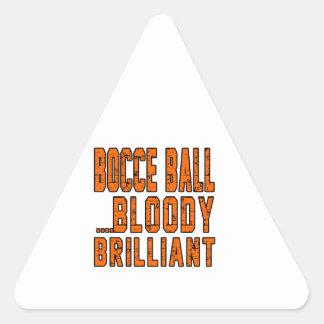 Bocce Ball Bloody Brilliant Triangle Sticker