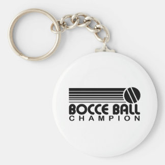 Bocce Ball Champion Basic Round Button Key Ring