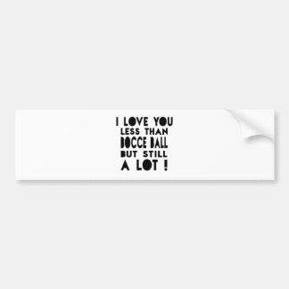 Bocce Ball Designs Bumper Sticker