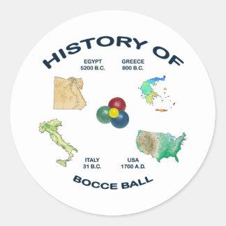 Bocce Ball History Round Sticker