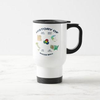 Bocce Ball History Travel Mug