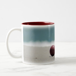 Bocce Ball on the Beach Two-Tone Coffee Mug