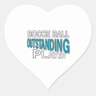 BOCCE BALL OUTSTANDING PLAYER HEART STICKER
