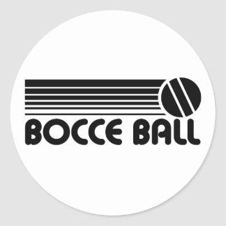 Bocce Ball Round Stickers