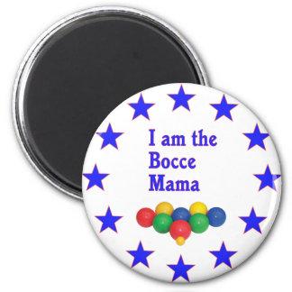 Bocce Mama 6 Cm Round Magnet