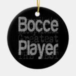 Bocce Player Extraordinaire Round Ceramic Decoration