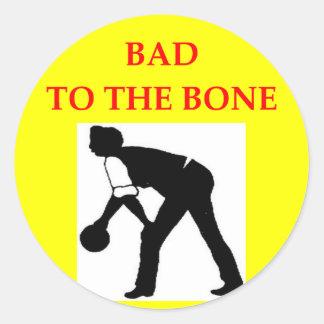 bocce round sticker