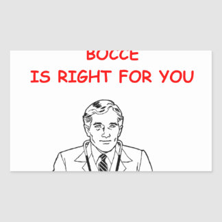 BOCCE RECTANGLE STICKERS