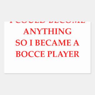 bocce rectangular sticker