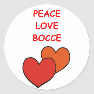 bocce round stickers