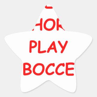 bocce star sticker