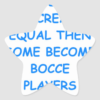 BOCCE STAR STICKER