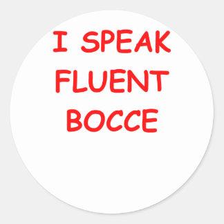 bocce round stickers