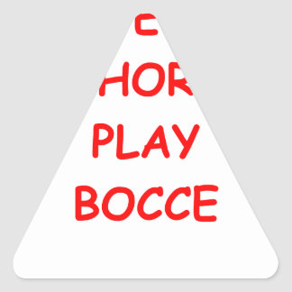 bocce triangle sticker