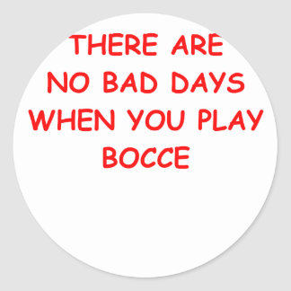 bocce round sticker