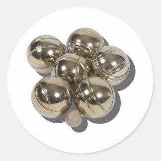 BocceBalls030111 Round Sticker