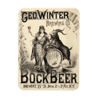 Bock Beer Brewing Co Lager Vintage Antique Rustic Rectangular Photo Magnet