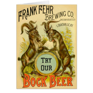 Bock Beer Goats Card