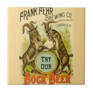 Bock Beer Goats Tile