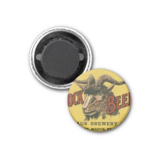Bock Beer Label 3 Cm Round Magnet