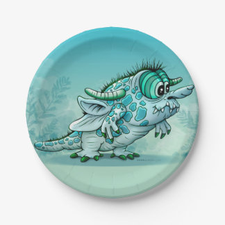 BOCKK  MONSTER PLATE 7 INCHES 7 INCH PAPER PLATE