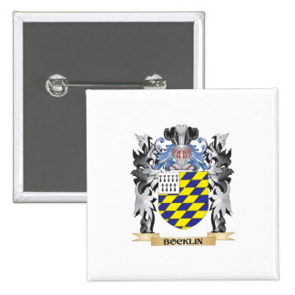 Bocklin Coat of Arms - Family Crest 15 Cm Square Badge