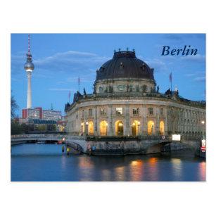 Bode Museum and Fernsehturm in Berlin Postcard