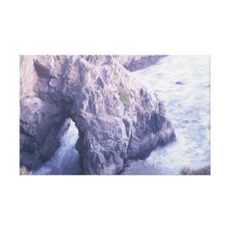 Bodega Bay, California Ocean Rock Canvas Print