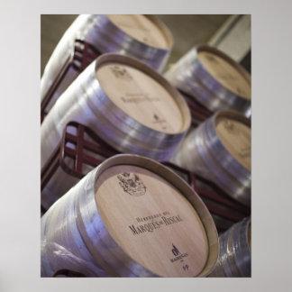 Bodega Marques de Riscal winery, wine cellar 2 Poster