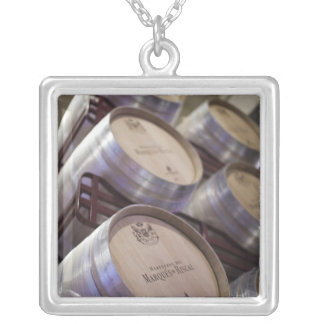 Bodega Marques de Riscal winery, wine cellar 2 Silver Plated Necklace