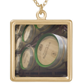 Bodega Marques de Riscal winery, wine cellar Gold Plated Necklace