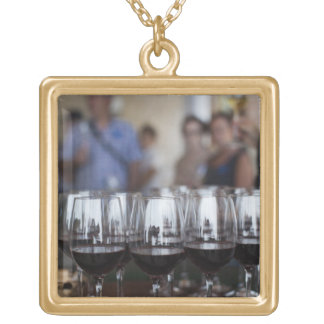 Bodega Marques de Riscal winery, wine tasting Gold Plated Necklace