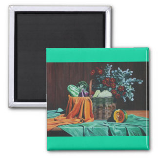 bodegon con flores rojas 30x40 (2) square magnet