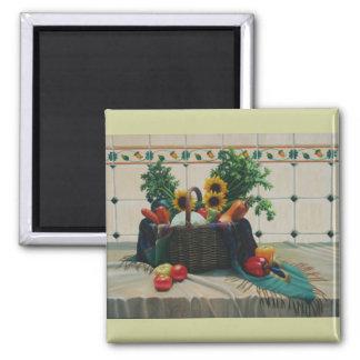 bodegon con girasoles 24x30 (2) square magnet