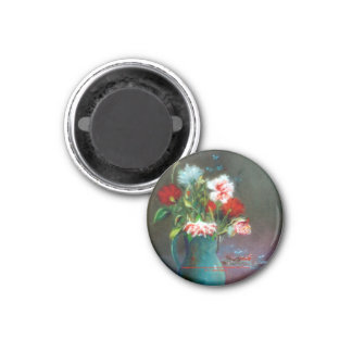 Bodegón of flowers/Still life of flowers Fridge Magnets
