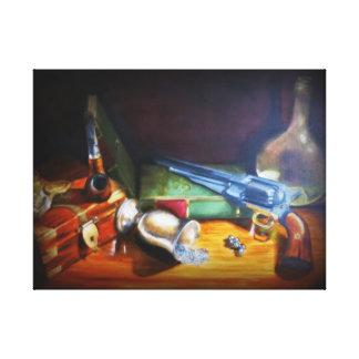 bodegon still-life padre abuelo despacho impresión en lienzo estirada